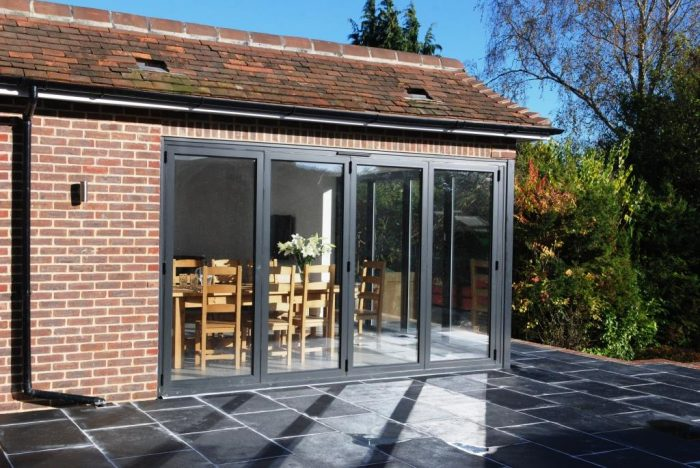 Orangery style extension with bi-fold doors