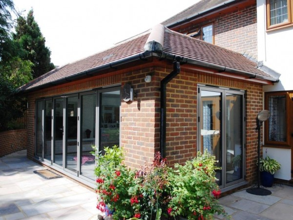 Rear orangery style extension